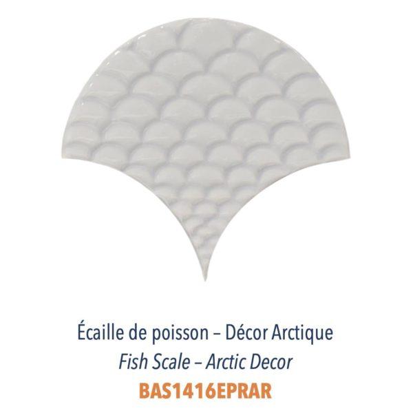 Diffusion Céramique - Carrelage bleu marine ECAILLES DE POISSON - blanc DECOR ARCTIQUE