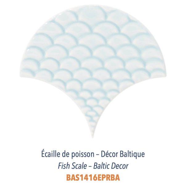 Diffusion Céramique - Carrelage bleu ECAILLES DE POISSON - DECOR BALTIQUE