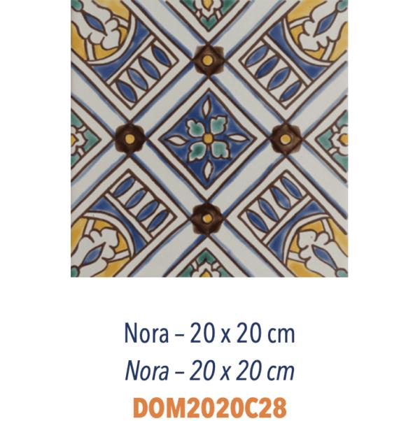 Carrelage méditerranéen Doremail - NORA 20x20cm