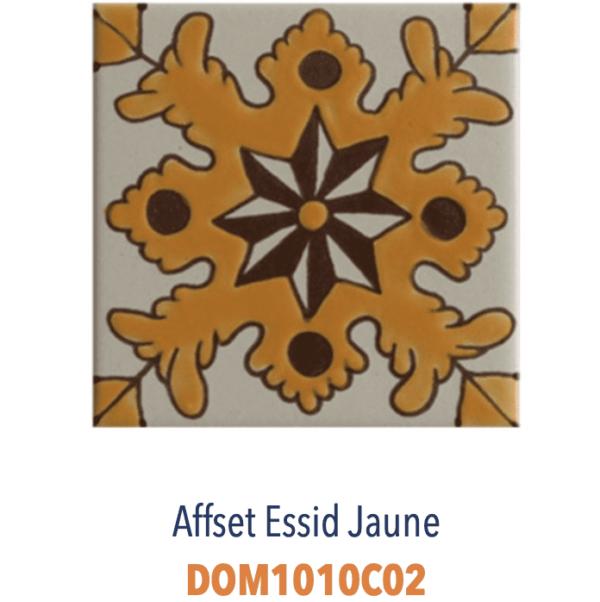 Carrelage méditerranéen tunisien DOREMAIL - AFFSET ESSID JAUNE