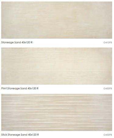 Carrelage imitation ciment Keratile STONEAGE - SAND - Nous contacter pour format 40x120 et motifs PRINT et STICK