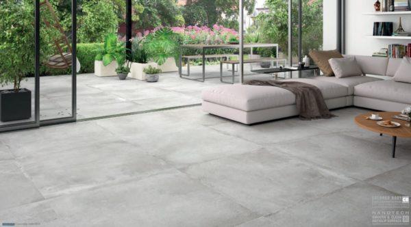 Carrelage imitation ciment Keratile STONEAGE - sol CONCRETE 100x100cm