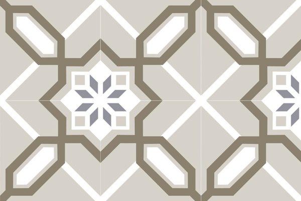 Carrelage imitation carreaux de ciment 20x20cm Nanda Metropolis - MALDEN