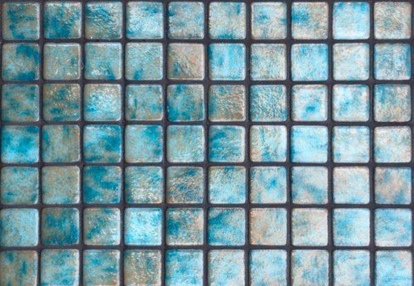 Mosaïque effet piscine Pierre de Bali - Reviglass PARADISE STONES AGUAMARINA