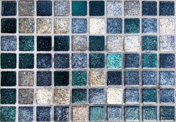 Mosaïque effet piscine Pierre de Bali - Reviglass PARADISE STONES coloris DEEP RIVER