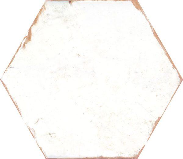 Carreau de ciment hexagonal - carrelage Nanda BOHEMIA blanc LINO WHITE